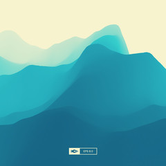 Abstract Landscape Background. 3d Vector Illustration.