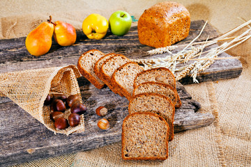 Decoration with rye bread