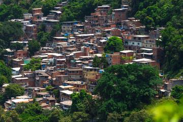 Favela Babilonia near Copacabana in Rio de Janeiro. Brazil