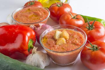 Gazpacho typical food spanish