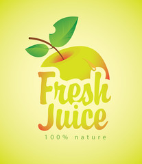 vector banners for fresh juice with a picture apple