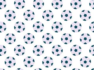 Seamless soccer balls, pattern with football balls. Football seamless background.