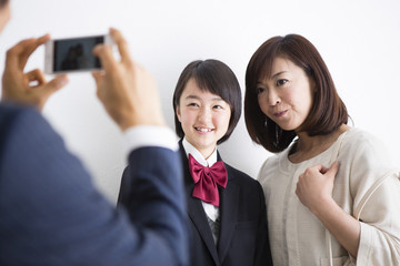 家族写真の撮影