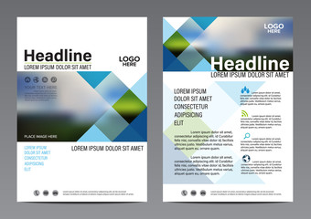 Geometric pattern Brochure Annual Report flyer design template. Leaflet cover Presentation Modern flat background. illustration vector in A4 size