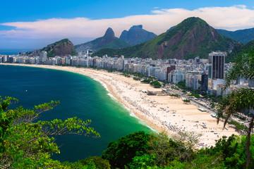 Fotobehang - Copacabana beach in Rio de Janeiro, Brazil