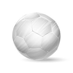 football white ball. soccer ball illustration