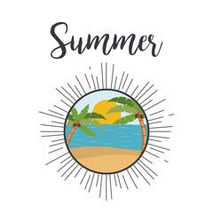Tropical summer landscape design