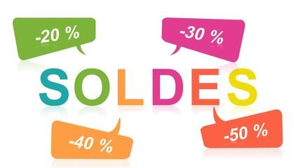 Soldes : Illustration pour publicité, fond d'écran, site internet, panneau publicitaire, prospectus, flyer
