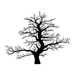 Vector tree silhouette.