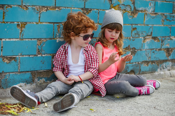 photo of two cute hipsters