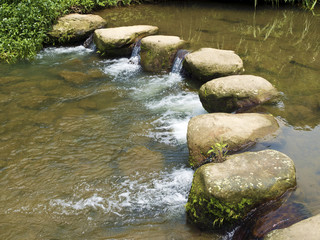 Rocky Stepping Stones across river