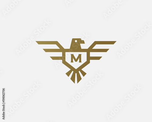 Eagle Vector Logotype Letter Shield Logo Design Template Luxury