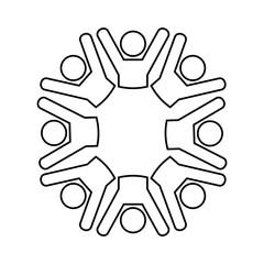 united people isolated icon design