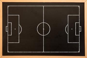 Digital image of soccer field plan