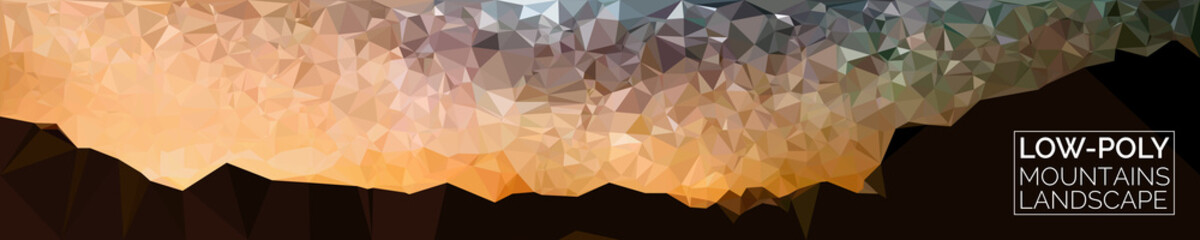 Abstract Background. Vector Mountains Landscape.