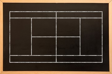 Composite image of sport field plan