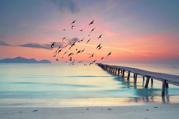Ruhe und Stille am Morgen am Strand
