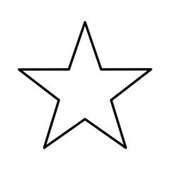 star single isolated icon design