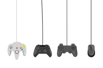 vier verschiedene controller