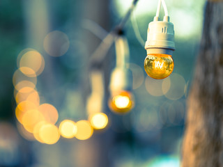 Light bulb decor in party