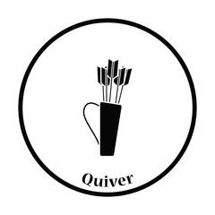 Quiver with arrows icon