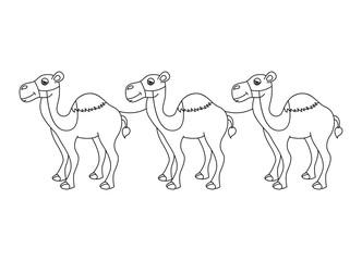 camel desert isolated icon design
