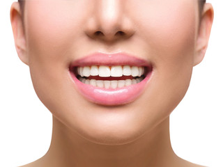 Healthy smile. Teeth whitening. Dental care concept