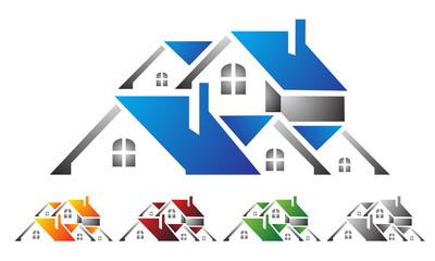 real estate, building, house, property, home logo vector