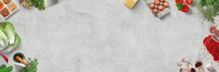 Deurstickers Kruidenierswinkel Low Carb / Paleo Ernährung / Diät / gesund essen