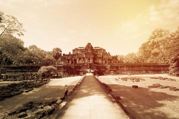 Angor Thom castle in Siem Riab, Cambodia