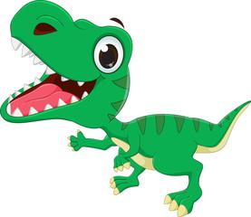 illustration of happy Dinosaurs cartoon