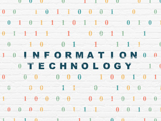 Information concept: Information Technology on wall background