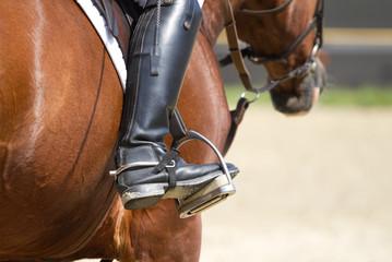 Foto op Plexiglas Jockey riding boots