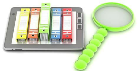 computer (documents folder ( 3D rendering