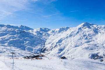 Valley view of Val Thorens.  France