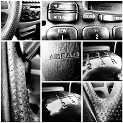 Consumer Car - Black and White Collage