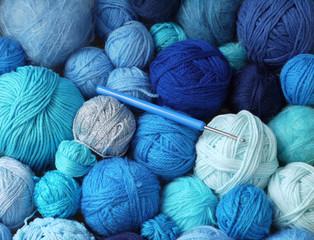 Blaue Wolle