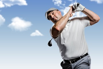 Portrait of golf player