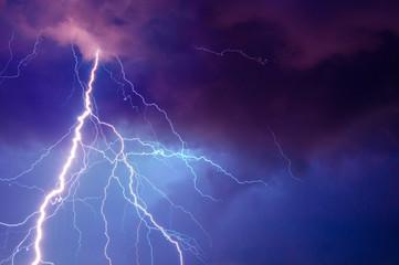 Heavy storm bringing thunder, lighnings and rain