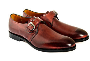Male monks fashion shoes on white