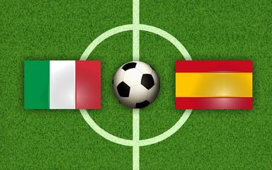 Soccer Football Italy vs Spain