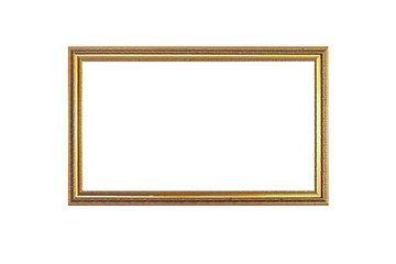 empty antique golden picture frame