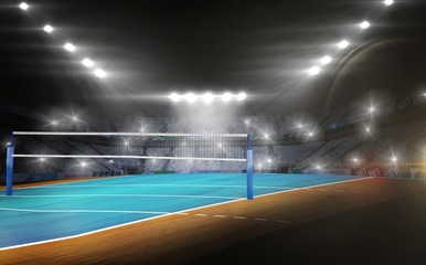View of a volleyball field
