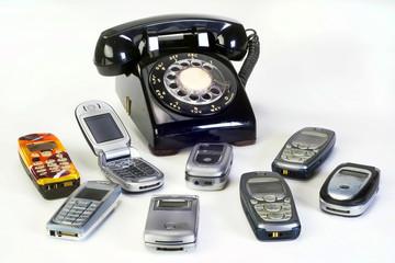 Old working Telephones.