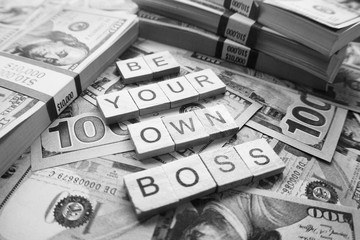 Money Black & White ( Be Your Own Boss ) Stock Photo High Quality