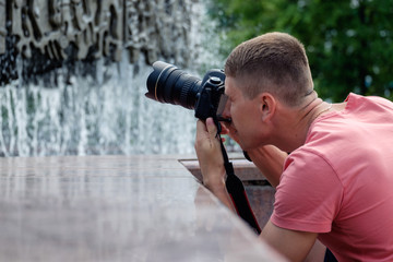 Professional male photographer