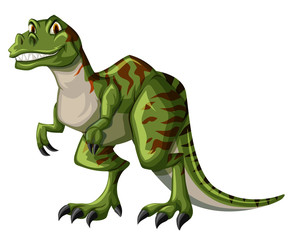 Green tyrannosaurus rex on white background