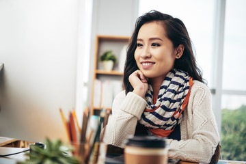 Girl at office
