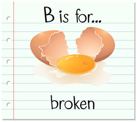 Flashcard letter B is for broken