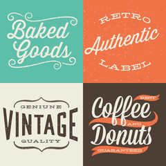 Vintage Typographic Labels